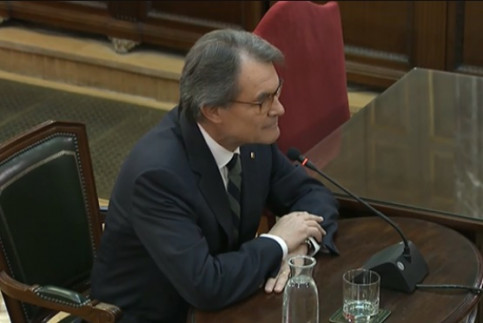The former Catalan president, Artur Mas, testifying in Spain's Supreme Court on February 27, 2019